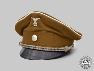 Germany, NSBO. A National Socialist Factory Cell Organization Officer's Visor Cap, by Anton Seemüller