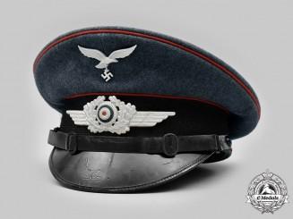 Germany, Luftwaffe. A Luftwaffe Flak/Artillery NCO's Visor Cap, by G.A. Hoffmann