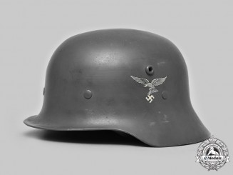 Germany, Luftwaffe. A Double-Decal Aluminum Parade Helmet