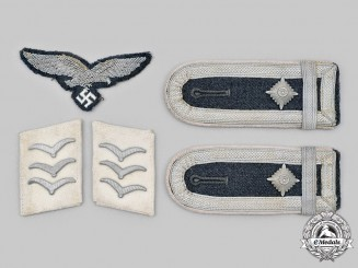"Germany, Luftwaffe. A Lot of 1st Fallschirm-Panzer Division ""Hermann Göring"" Uniform Insignia"