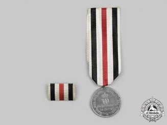 Prussia, Kingdom. A War Merit Medal 1870/71 and Ribbon Bar