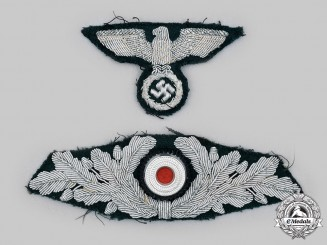 Germany, Third Reich. A Reich Forestry Service Officer's Visor Cap Insignia