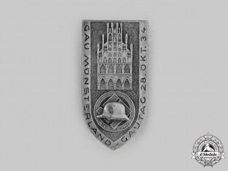 Germany, Third Reich. A 1934 Gau Münsterland Gautag Commemorative Badge