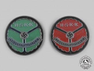 Germany, NSKK. A Pair of Wartime Female Driver Badges, by Wächtler & Lange