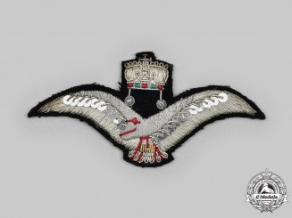 Hungary, Kingdom. An Embroidered Pilot's Breast Eagle, c. 1940