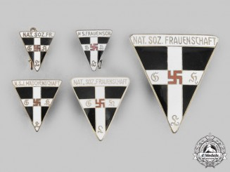 Germany, Third Reich. A Lot of National Socialist Women's League Membership Badges