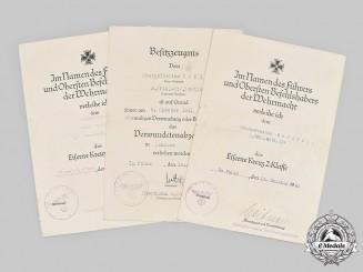 Germany, Heer. The Award Documents to Anti-Aircraft NCO Höfling (EK1)