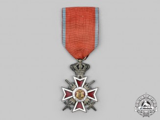 Romania, Kingdom. A Order of the Crown of Romania, V Class Knight with Swords, c.1940