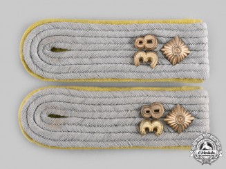 Germany, Heer. A Set of Signals Oberleutnant Shoulder Boards