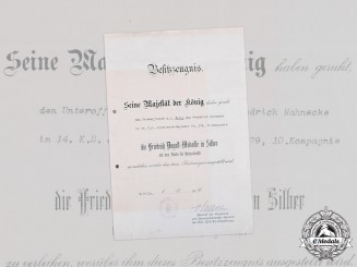 Germany, Imperial. A Saxon Friedrich August Document, Signed by PLM Recipient Maximilian von Laffert