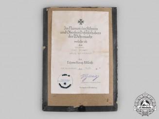 Germany, Heer. An Iron Cross I Class Document to Mountain Trooper Hauptmann Enzinger 1940