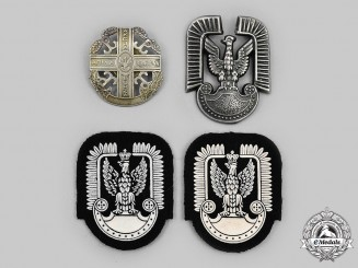 Poland, Republic. A Lot of Four Army and Air Force Badges