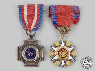 United States. Two American Society Medals, c. 1900