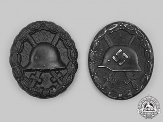 Germany. A Pair of Wound Badges, Black Grade, Imperial and Third Reich Versions