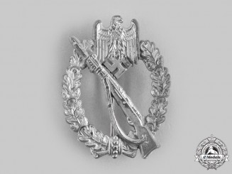 Germany, Wehrmacht. An Infantry Assault Badge, Silver Grade, by Wilhelm Hobacher