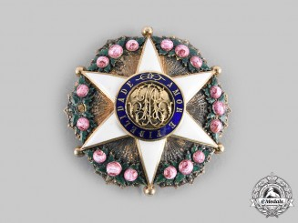 Brazil, Independent Empire. An Order of the Rose in Gold, Officer's Star, c. 1880