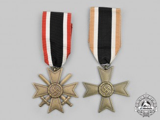 Germany, Wehrmacht. A Pair of War Merit Crosses, II Class
