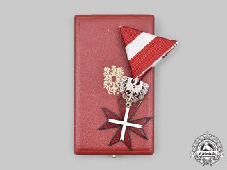 Austria, Second Republic. A Decoration of Honour, Silver Cross of Honour with Case and Miniature, by Wolfgang Reitterer