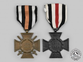 Germany, Third Reich. A Pair of Honour Crosses of the World War 1914/1918