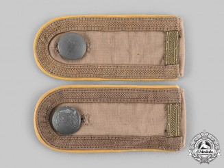 Germany, Heer. A Set of Signals Unterfeldwebel Tropical Shoulder Straps