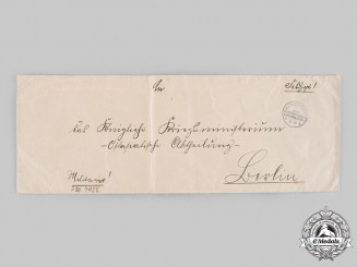 Germany, Imperial. A Large Envelope to the German War Ministry, East Asian Department (Boxer Rebellion)