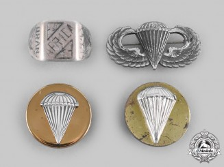 United States. A Group of Second War Parachutist Items