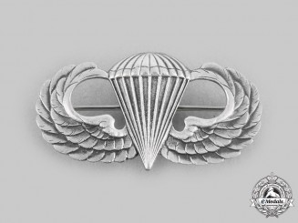 United States. A Basic Parachutist Badge, by N.S. Meyer, c.1942