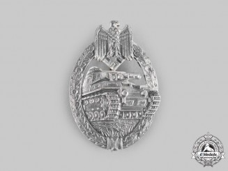 Germany, Wehrmacht. A Panzer Assault Badge, Silver Grade, by F.W. Assmann & Söhne