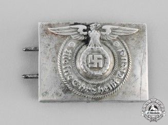 Germany, SS. A Waffen-SS EM/NCO's Belt Buckle, by Overhoff & Cie