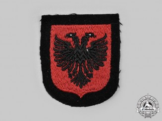 "Germany, SS. A 21st Waffen Mountain Division of the SS ""Skanderbeg"" Sleeve Insignia"