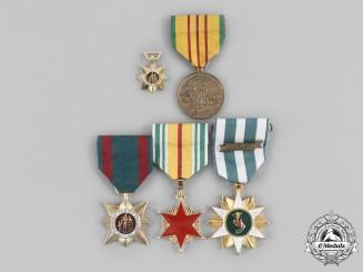 United States; Vietnam, Republic. A Lot of Five Vietnam War Period Medals
