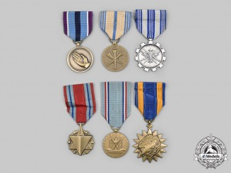 United States. A Lot of Six Air Force Oriented Awards