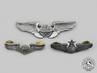 United States. A Lot of Three United States Air Force (USAF) Badges