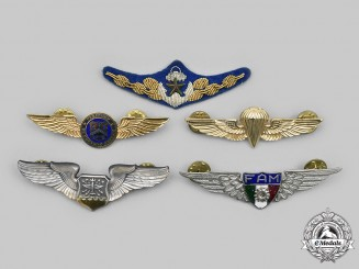 Mexico, United States. A Lot of Five Air Force Badges