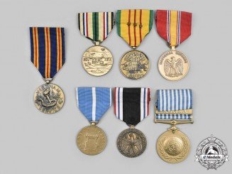 United States. A Lot of Seven Campaign Service Medals