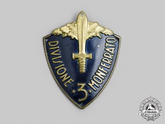 Italy, Kingdom. A 3rd Infantry Division Montferrato (3° Divisione Montferrato) Sleeve Badge