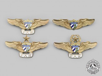 Cuba, Republic. A Lot of Four Cuban Revolutionary Armed Forces (FAR) Air Force Badges