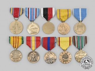 United States. A Lot of Ten Armed Forces Campaign Medals