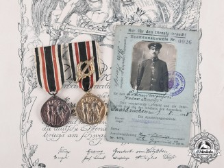 Germany, Imperial. A Collection of Medals and Documents to Train Driver Peter Kneip and His Family