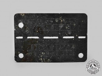 Germany, Third Reich. A Stalag-344 Allied POW Identification Tag
