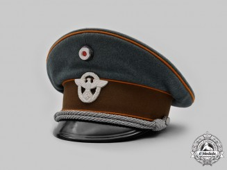Germany, Ordnungspolizei. A Gendarmerie Officer's Visor Cap, by Willy Sprengpfeil
