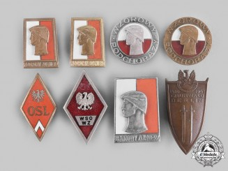 Poland, People's Republic. A Lot of Eight Army Badges
