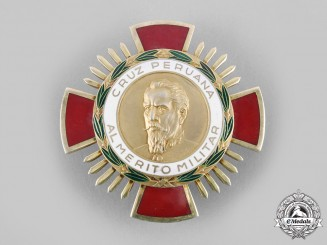 Peru, Republic. A Cross of Military Merit, II Class Grand Officer Star, c.1955
