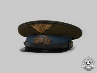 Russia, Soviet Union. An Air Force Officer's M35 Visor Cap