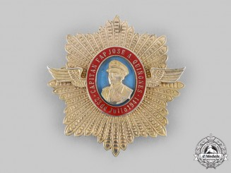 Peru, Republic. An Order of Captain Jose A. Quinones, I Class Grand Cross Star, c.1975