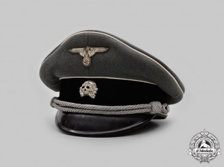 Germany, SS. A Waffen-SS Infantry Officer's Visor Cap, by Ferdinand Erdt