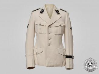 """Germany, SS. A SS-Verfügungstruppe Standarte """"Deutschland"""" Obersturmführer's Summer Dress Tunic, by Wendt"""