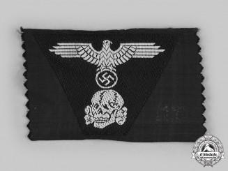 Germany, SS. A Waffen-SS Panzer EM/NCO's Cap Insignia