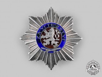 Czechoslovakia, III Republic. A Military Order of the White Lion, II Class Star, by Karnet & Kysely, c.1945
