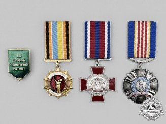 Moldova, Ukraine. A Lot of Four Medals